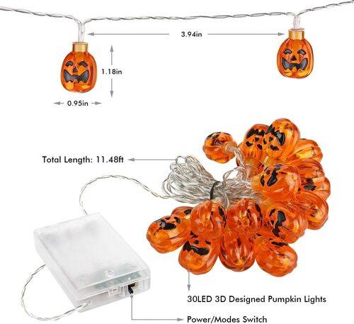 Toodour 3D Pumpkin Designed LED String Lights