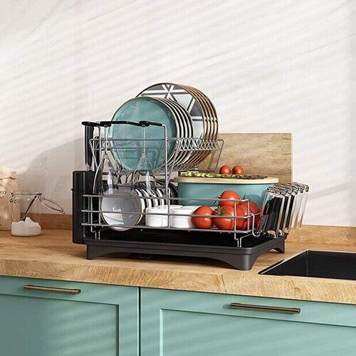 MAJALIS Dish Drying Rack with Drying Mat