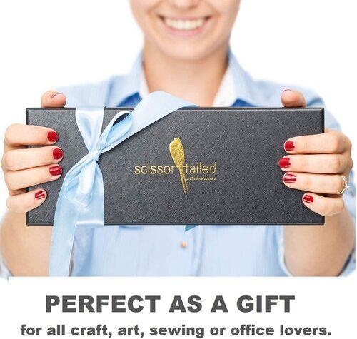 Scissor-Tailed High Carbon Steel Premium Sewing Scissors Set in Gift Box