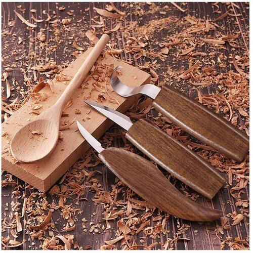 WAYCOM 12 pcs Wood Carving Knifes Kit with Wood Spoon Blank