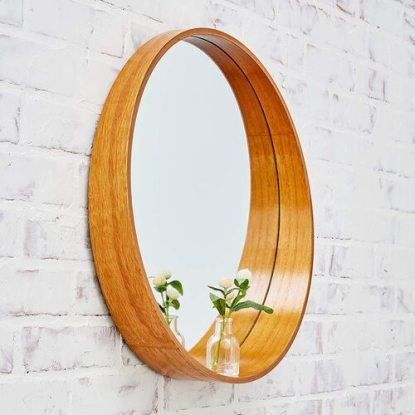 A Rated Trading Bamboo Wall Mount Round Decorative Mirror