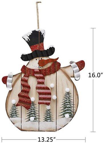 E-view Wooden Snowmen Indoor Christmas Decor