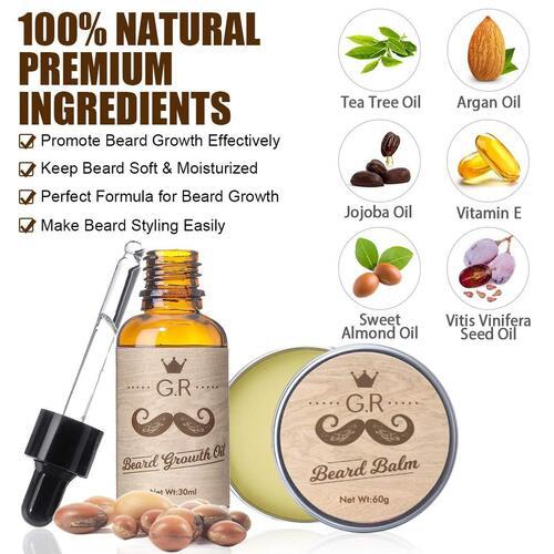 GLAMADOR Facial Hair Growth Kit for Men's