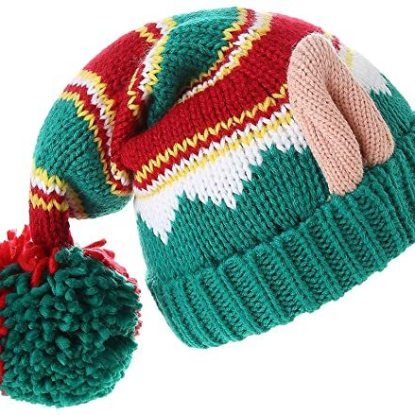 LMLALML 100% Acrylic Christmas Winter Cap Xmas Gift Idea for Kids and Adults