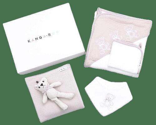 Kanga + Roo Large Hooded Baby Towel + Accessories