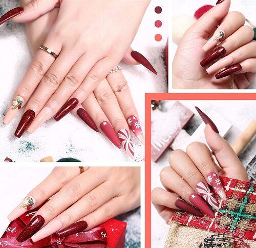 Modelones nail gel polish kit in a beautiful gift box