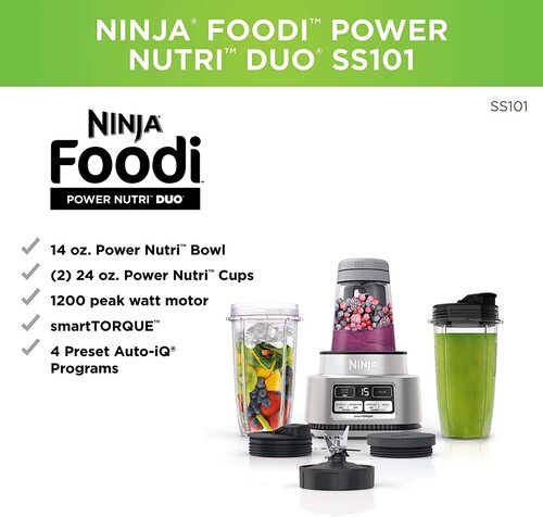 Ninja Foodi Smoothie Bowl Maker and Nutrient Extractor Blender