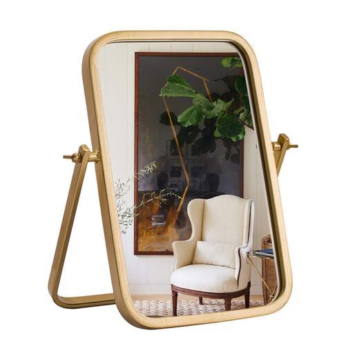 Geloo 360° Rotation Golden Rectangle Vanity Makeup Mirror Modern Home Decor