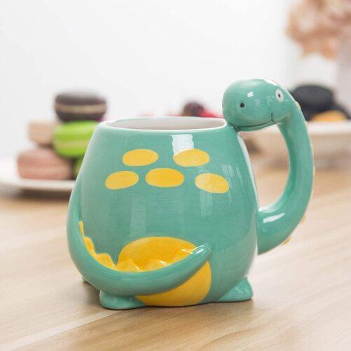 Adorable Brontosaurus Dinosaur Cartoon Ceramic Coffee Mug by MyGift