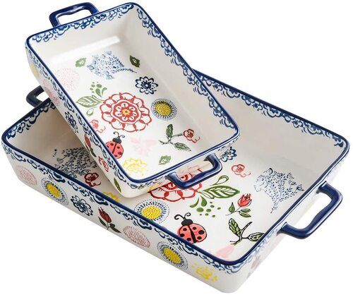 BFU high-quality porcelain clay rectangular baking pan set
