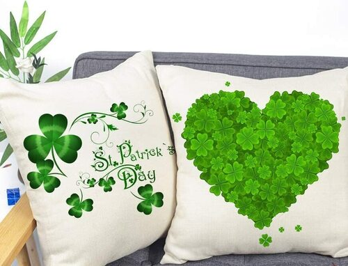 Farmhouse St. Patrick's Decorative Pillow Covers by 4TH Emotion