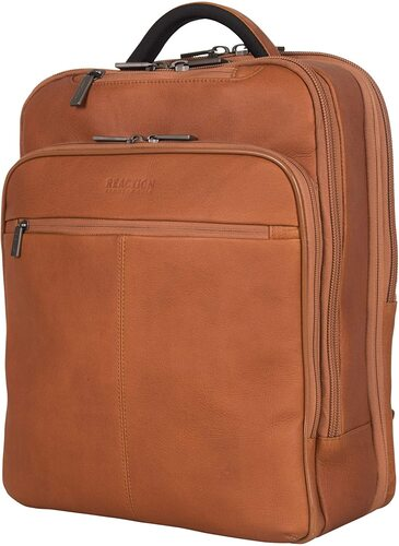 Full-grain Colombian leather Laptop Backpack, Kenneth Cole,