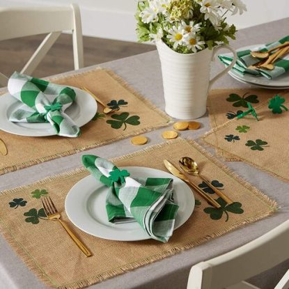 St Patrick's day table placemats by DII