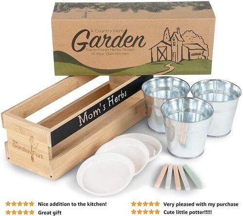The Garden Fork herb planters for indoor plants
