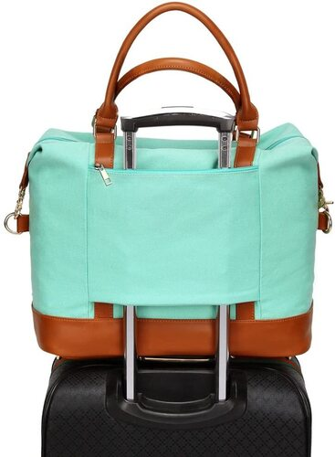 Bluboon Ladies Overnight Carry-on Tote Duffel with Trolley Handle