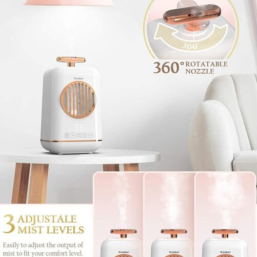 Keebar Ultrasonic Humidifier with Essential Oil Diffuser and Auto shut-off