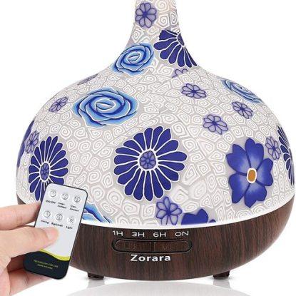 Zorara 550ml Glass Ultrasonic Aromatherapy Essential Oils Diffuser