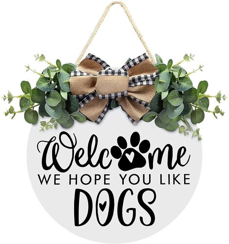Asoulin Adorable Dog Welcome Sign Dog Lovers Gift