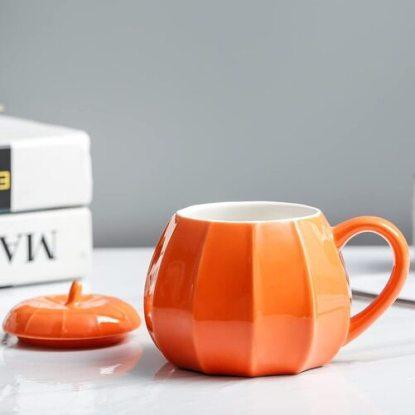 VANUODA Pumpkin Mug with Lid