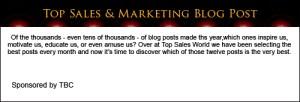 Top Sales & Marketing Blog Post