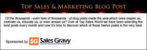 Sales Gravy sponsor Top Sales & Marketing Blog Posts 2013