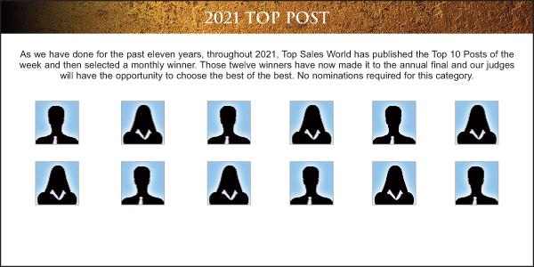 Top Sales & Marketing Awards Article 2021