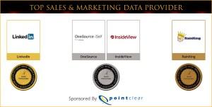 Top Sales & Marketing Awards Data Providers Medal Winners 2012