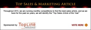 Top Sales & Marketing Awards 2013 vote article