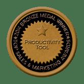 Bronze Medal - Productivity Tool 2014 Top Sales & Marketing Awards