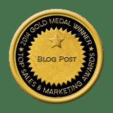 Gold Blog Post 2014 Top Sales & Marketing Awards