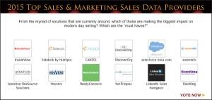Top Sales & Marketing 2015 Sales Data Provider