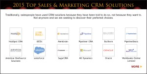 Top Sales & Marketing Awards 2015 CRM Solution