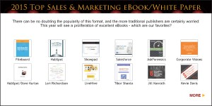 Top Sales & Marketing Awards 2015 eBooks & White papers