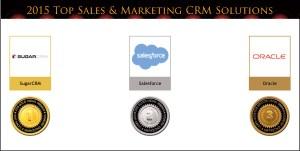 2015 Top Sales & Marketing CRM Solution Medals