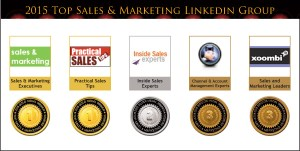 2015 Top Sales & Marketing LinkedIn Group Medals