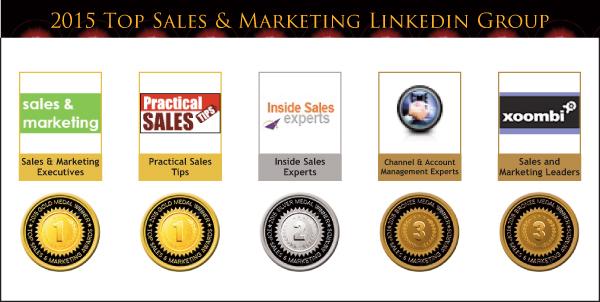 2015 Top Sales & Marketing LinkedIn Group Medals