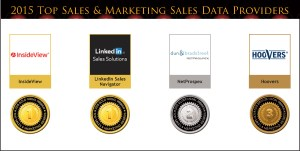 2015 Top Sales & Marketing Sales Data Provider Medals
