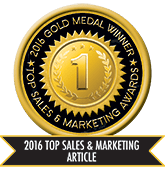 2016 Top Sales & Marketing Article - Gold