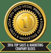 2016 Top Sales & Marketing Company Blog - Gold