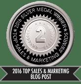 2016 Top Sales & Marketing Blog Post - Silver