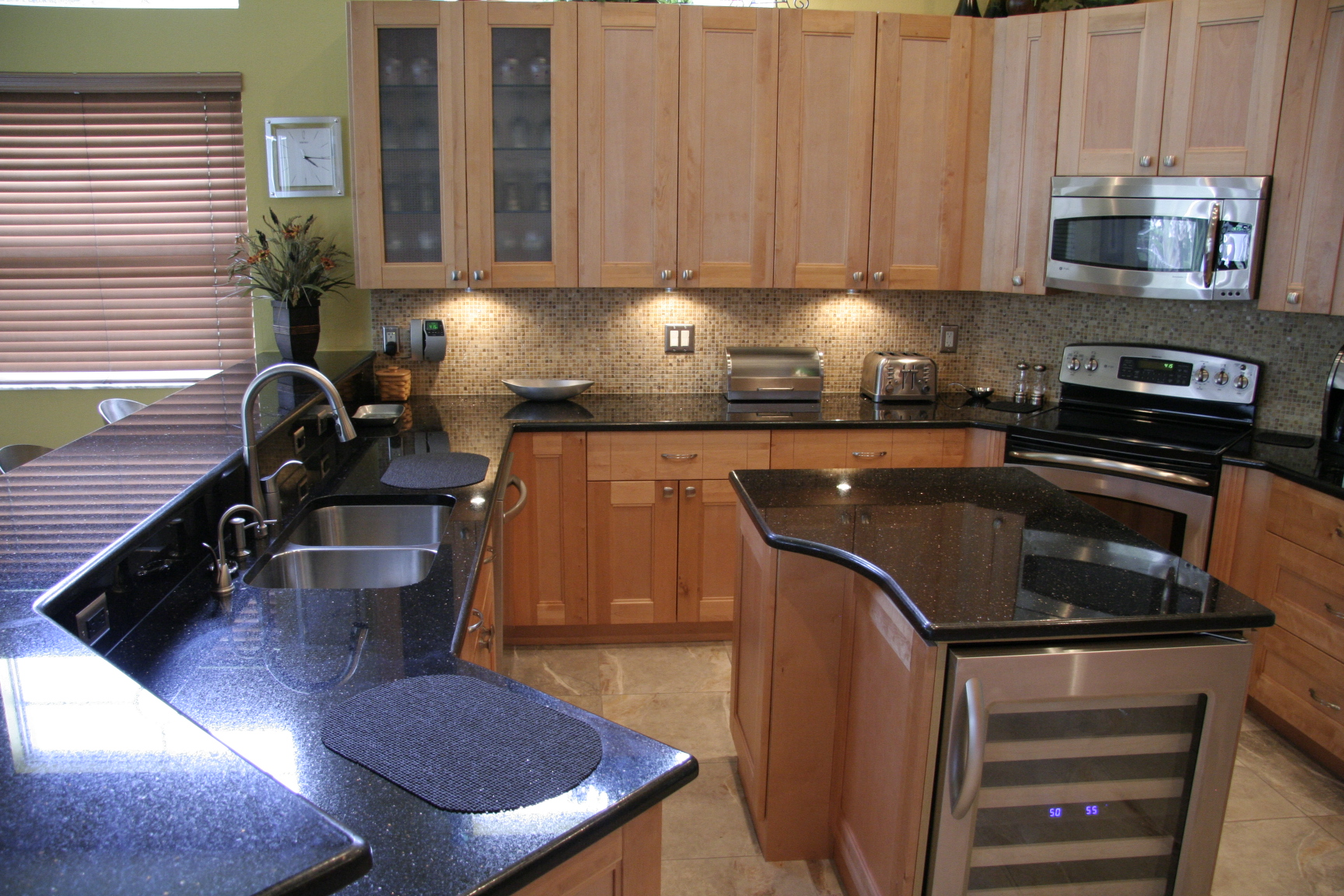 tops kitchen cabinets pompano metal table for gallery and granite countertops