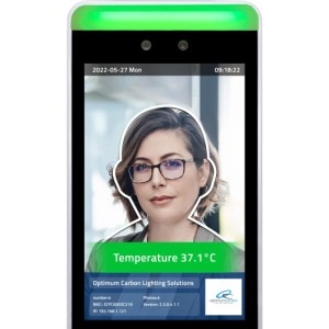 "8"" Facial Recognition Thermometer Display"