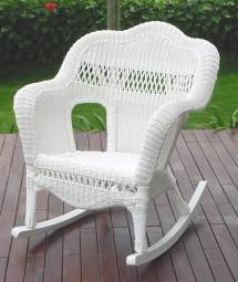 decent with white wicker