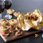 gold foil food paper with resin cheese board