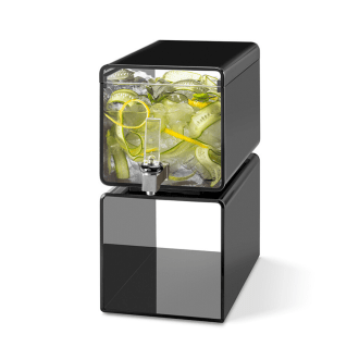 Rosseto Lucid Cuboid Beverage Dispenser black