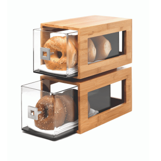 Rosseto Bakery Column natural Bamboo with 2 Acrylic Bakery Drawers