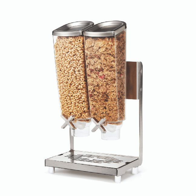 Rosseto 2 Container Steel EZ-PRO™ Food Dispenser