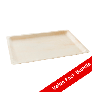 Rectangular Tray Bio Wood VALUE PACK BUNDLE