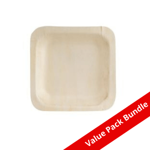 Square Bio Wood Plate VALUE PACK BUNDLE