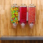 Triple Container Wall Mounted bulk food dispenser